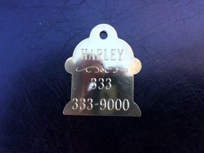 "NEW  Solid Brass ""Fire Plug""  Dog Tag for Active Dogs  - Dia"