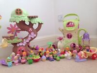 Happyland Fairy boot and Treehouse plus lots of Happyland figures