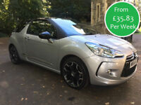 £154.06 PER MONTH CITROEN DS3 1.6 VTi DStyle Plus 120BHP AUTO PETROL 3 DOOR