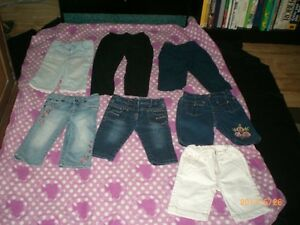 Lot de 6 shorts et un pantalon pour fille