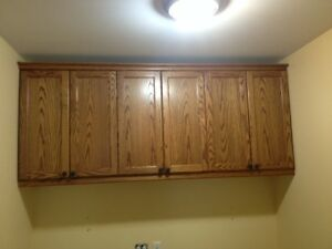 Like NEW condition Solid Oak Cabinet