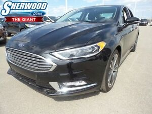 2017 Ford Fusion Titanium w/ Adaptive Cruise, SYNC 3, Moonroof