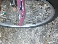young lady bike spares or repair