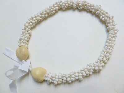 Hawaii Wedding / Graduation Kukui Nut Lei Luau Jewelry Necklace 31048 ( QTY 2 )
