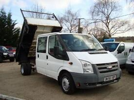 2007 FORD TRANSIT 2.4 TDCI CREW CAB TIPPER Only 43,000 Miles NO VAT