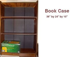 Three bookcases - different sizes / plus stand