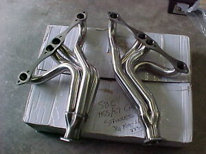 TRI 5-1955,56,57 SBC CHEVY HEADERS (only black left) long tube London Ontario image 1