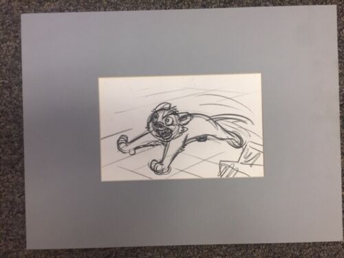 """Original Disney Production Drawing from """"The Lion King""""  Young Simba Running"""