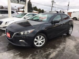 2015 Mazda Mazda3 GX HATCHBACK // 6 SPEED MANUAL!! A/C! WARRANTY