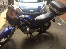 Yamaha YBR 125 Blue + Helmets/Jacket/Gloves