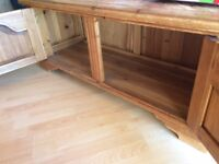 Amazing Large solid wood COFFEE TABLE with oodles of storage and character. Needs a little tlc
