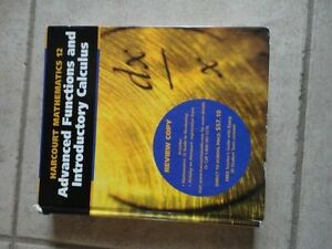 Harcourt Advanced Functions and Introductory Calculus 12 London Ontario image 1