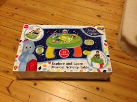 Excellent barely In the Night Garden Explore and learn musical activity table - excellent condition