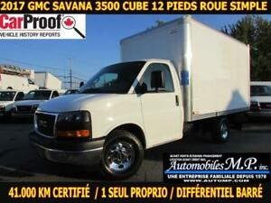 2017 GMC Savana 3500 41.000 KM 1 SEUL PROPRIO ROUE SIMPLE