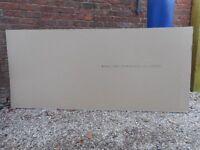 ONE UNUSED SHEET OF PLASTERBOARD 2400 x 1200