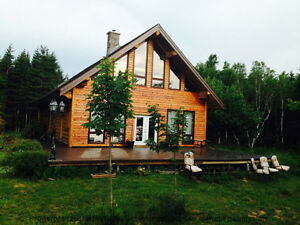 Beautiful Log Home Property- 299 Caribou Marsh Rd.  MLS: 5155573