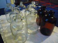 9 glass demijohns