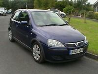 06 REG VAUXHALL CORSA 1.2i SXI 3 DOOR HATCHBACK IN METALLIC BLUE HPI CLEAR