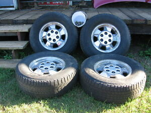 Chevy 6 stud 4x4 16 inch rims and tires