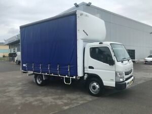 2013 MITSUBISHI FUSO CANTER 918, 180HP, 6 SPEED MANUAL TRANSMISSION, 6 PALLET CURTAINSIDER WITH GATE Milperra Bankstown Area Preview