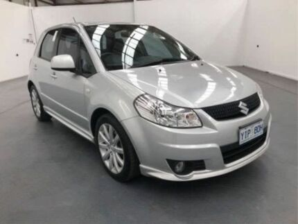 2010 Suzuki SX4 GY MY10 Silver Continuous Variable Hatchback Fyshwick South Canberra Preview