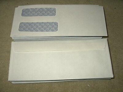 100 Staples Double Window laser check envelopes envelope security tint checks 100 Double Window Envelopes