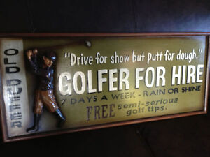 Bar, Restaurant, Man Cave , Golf , 3D signs , Small and Large