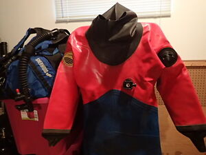 Scuba Gear-Viking Sport Women's Drysuit complete w/Sherwood Gear