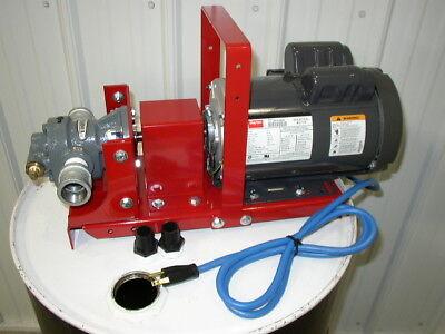 New 110v 34 Hp Electric Wastebulk Oil Pump1 Gear Head16 Gpm15w40cold Oil
