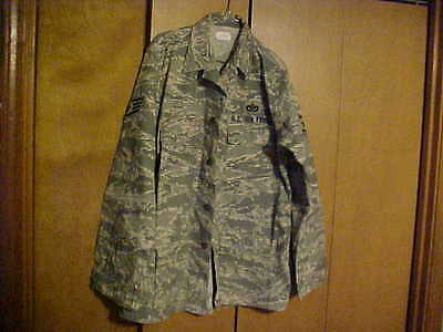 US AIR FORCE CAMO PATTERN   MENS  COAT UTILITY 42 X- LONG, USED, GOOD  SHAPE.