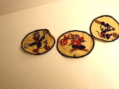 Disney Character Clothes (3 older cloth Disney character patches - Mickey, Donald and a rabbit)