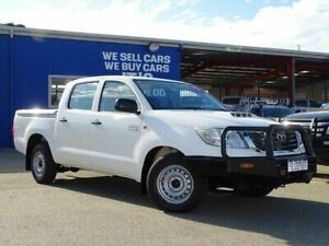 2014 Toyota Hilux KUN16R MY14 SR Double Cab 4x2 White 5 Speed Manual Utility Welshpool Canning Area Preview