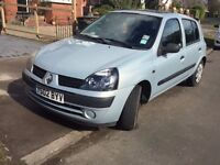 2002 Renault Clio 1.1 - Full MOT, New disks and pads, Service History, CAM belt changed