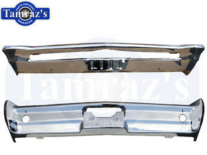 1965 65 Pontiac GTO Front & Rear Bumper w/back up light holes Chrome Plated