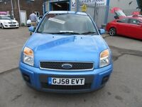 Ford Fusion FUSION PLUS 5d AUTO 100 BHP £0 deposit low finance rates available (blue) 2008