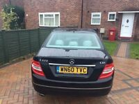 Mercedes C Class, Diesel, Black, Full Service History, Very Economical
