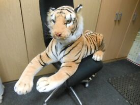Extra Large Giant Plush Lying Tiger Soft Toy With