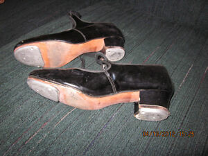 2 Pair of girls VINTAGE 1960's Patent Leather Tap Shoes London Ontario image 2