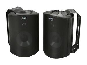 Polk Audio Atrium 4 Compact Indoor/Outdoor Speaker Black Pair
