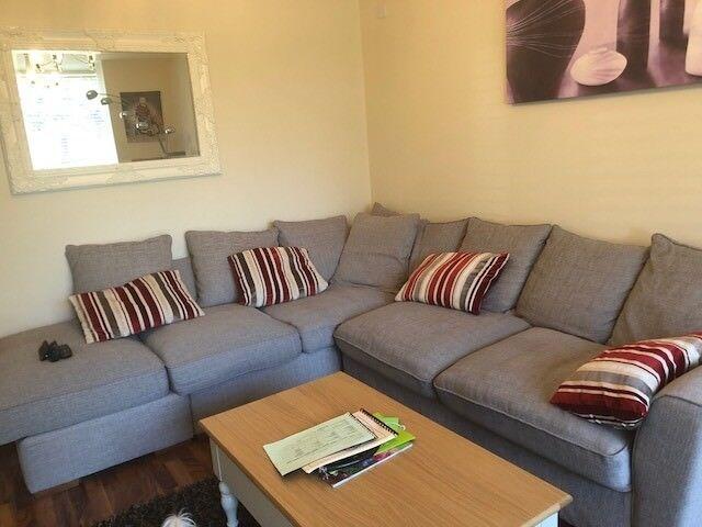 corner sofa grey scotch guarded in cambridge cambridgeshire gumtree