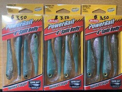 "Berkley PowerBait 5/"" Firetiger Split Tail Hollow Belly Swimbait 2 Packs"