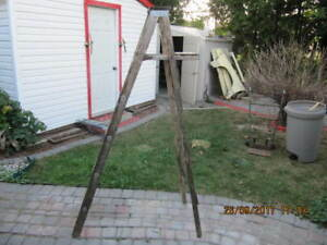 Vintage Classic Solid Wood 6ft High Step Ladder Circa 1940-1950s