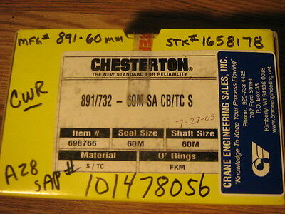 Chesterton Mechanical Seal 891732 -60m Sa Cbtc Shaft 60m Or2.5 Item698766