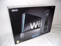 NINTENDO Wii BLACK CONSOLE WITH Wii SPORTS RESORT