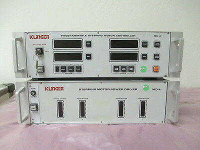 Klinger Md4 Stepping Motor Power Driver And Mc4 Programmable Controller 413351