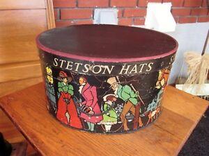 Magnifique Boite à Chapeau Stetson Antique