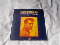 Vinyl LP C'mon Everybody Eddie Cochran Sunset Records SLS 50155 Liberty Recording Stereo 1969
