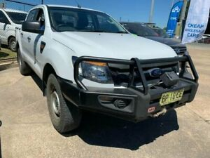 2011 Ford Ranger PX XL Super Cab White 6 Speed Manual Cab Chassis Wickham Newcastle Area Preview