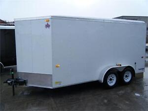 7X14 V-Nose Cargo Trailer with Barn Doors