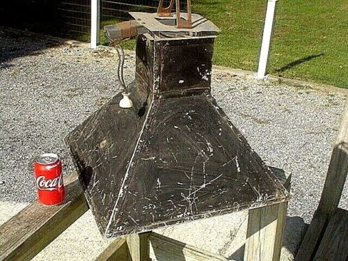 HUGE VINTAGE ANTIQUE INDUSTRIAL FACTORY LIGHT LAMP Steampunk